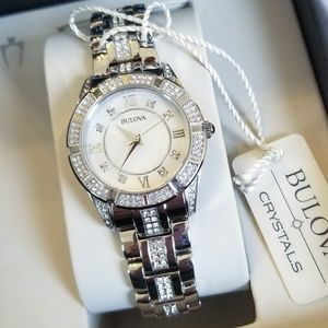 NWT Women's Bulova Stainless Steel Crystal Watch